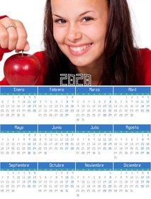 Calendario De 2020 Completo.Calendario 2020 Ano Completo 12 Meses Con Tu Foto Fotoefectos