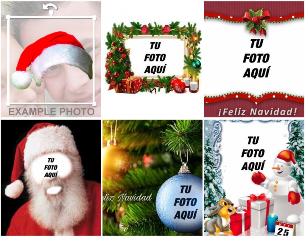 Fotomontajes Y Marcos Para Fotos De Navidad Fotoefectos