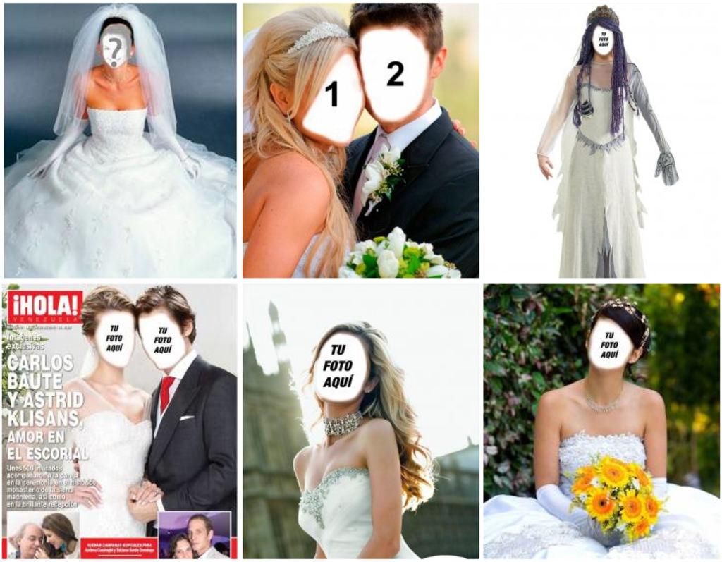 Fotomontaje online vestido de novia