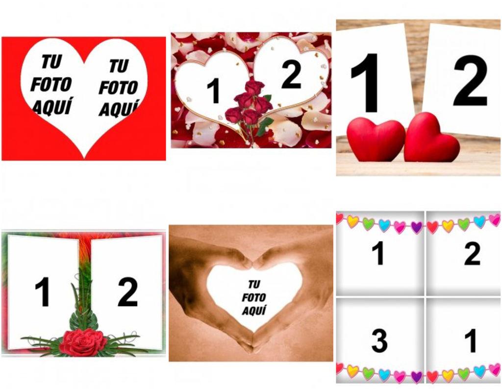 Fotos De Amor En Collages Para Personalizar Fotoefectos