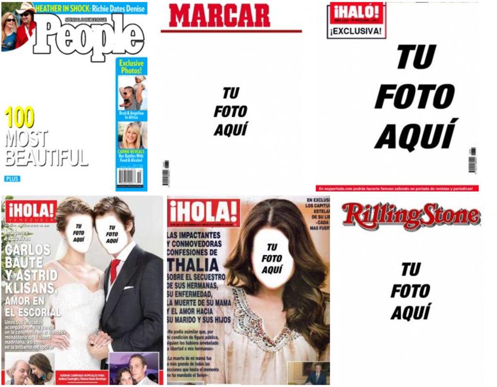 Portadas De Revistas Personalizadas Para Poner Fotos Fotoefectos