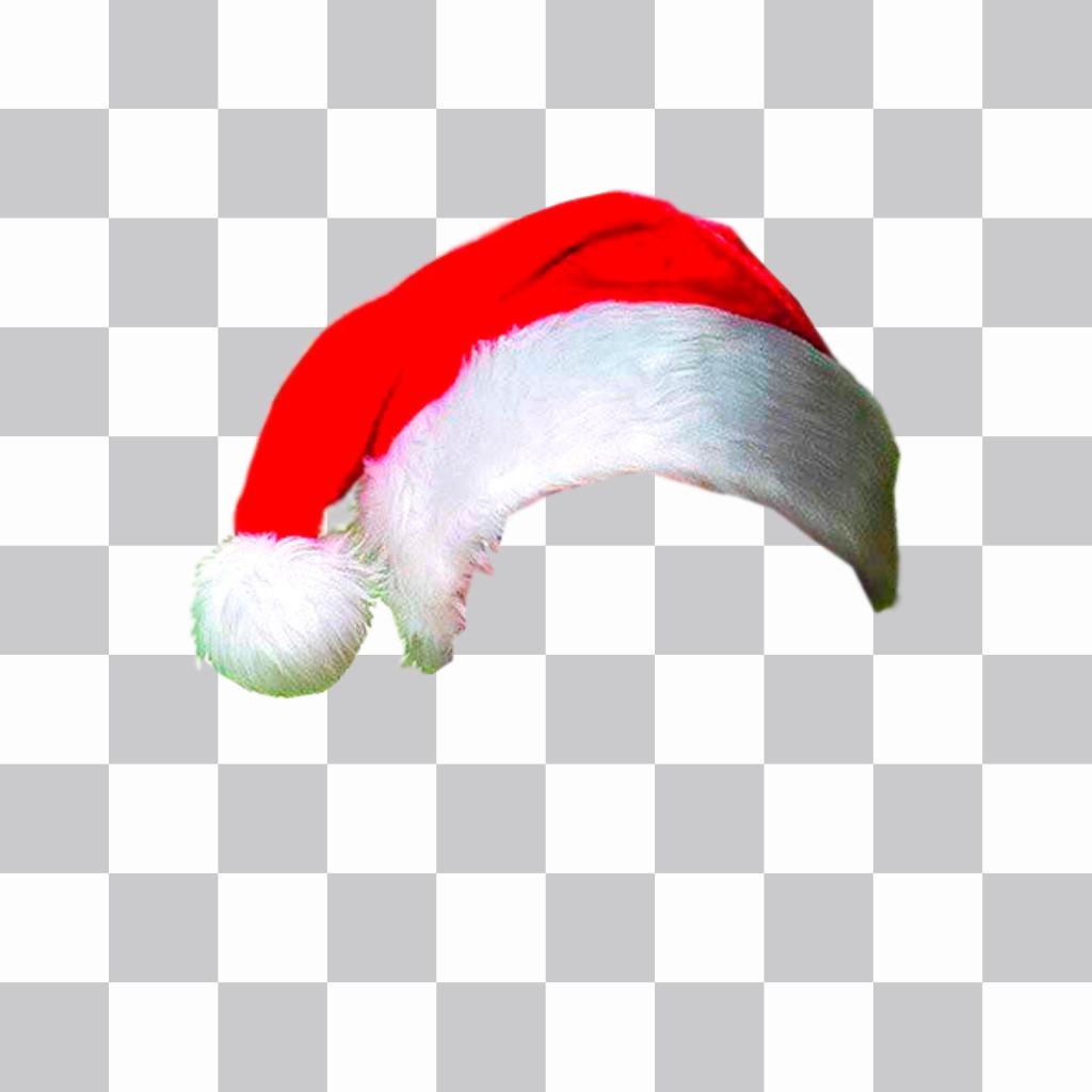 Fotomontaje para poner un gorro de navidad en tu foto online
