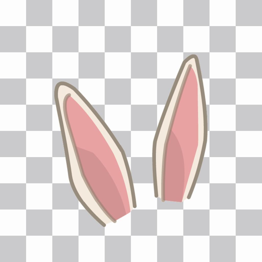 Sticker para poner unas orejas de conejo en tu foto