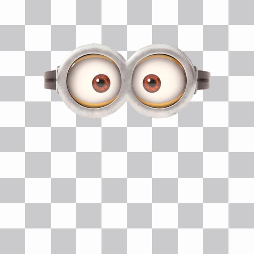 Pegatina con las gafas de un minion