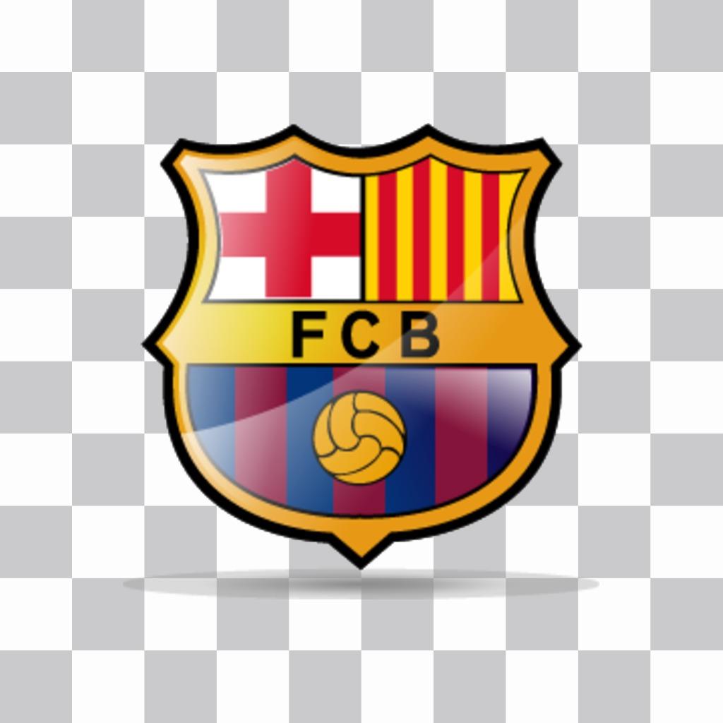 Pega el logo del Barça en tus fotos con esta pegatina del escudo oficial