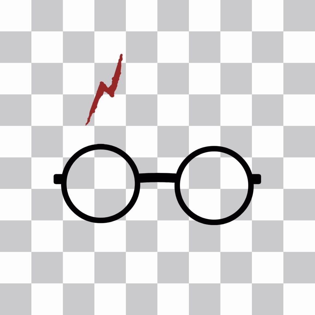 Pegatina con las gafas y la cicatriz de Harry Potter