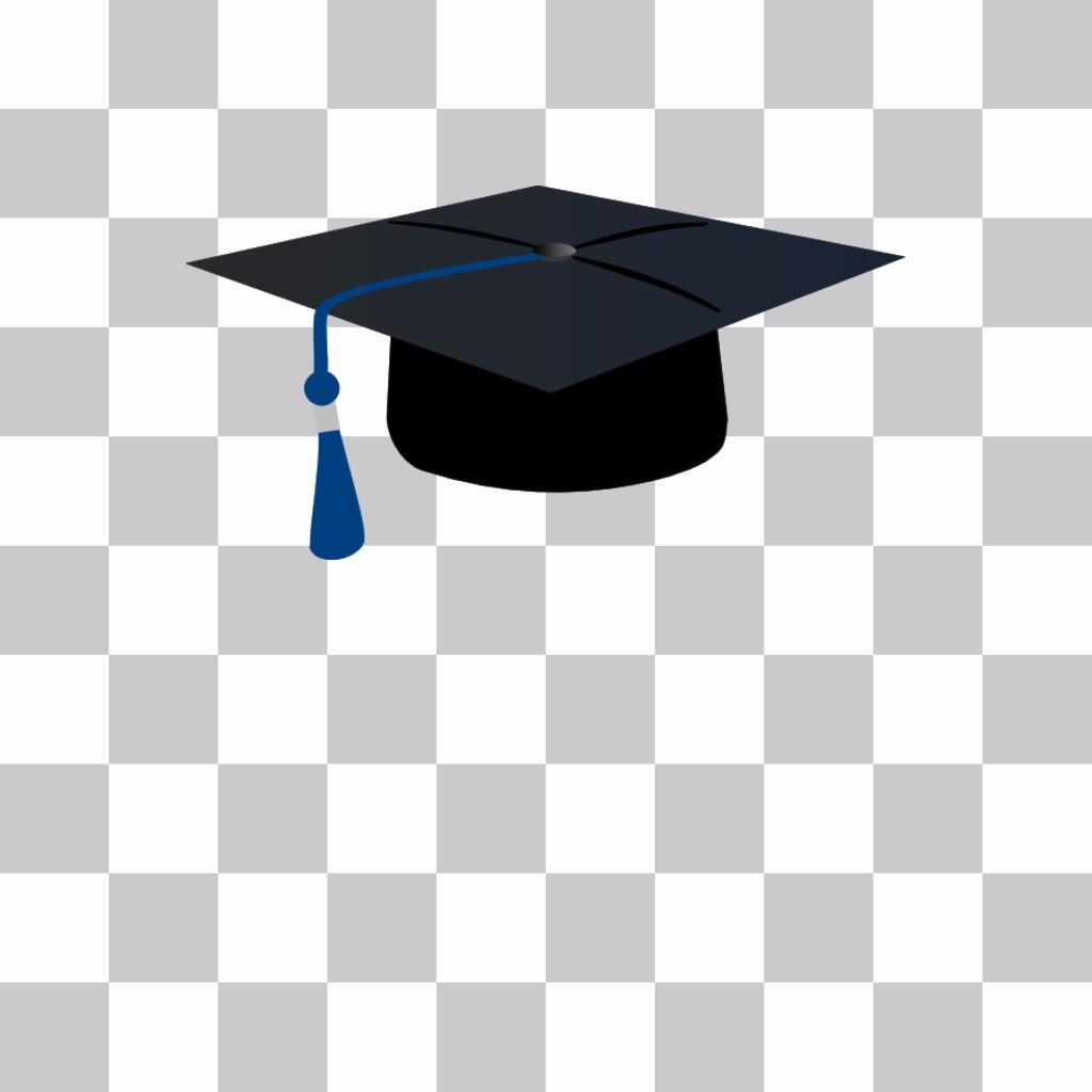 Fotomontaje de birrete universitario para poner en tus fotos con nuestro editor online