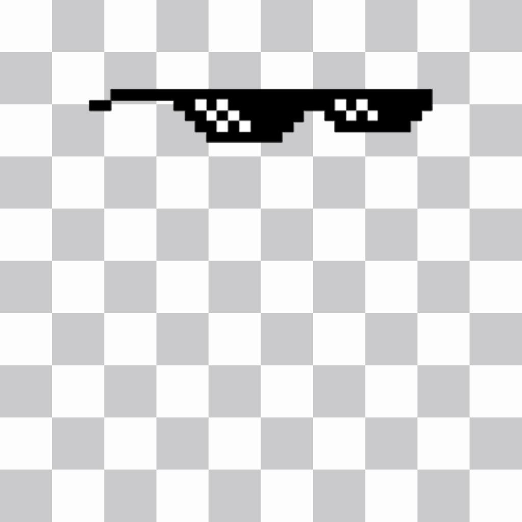 Sticker de gafas pixeladas del meme Deal With It