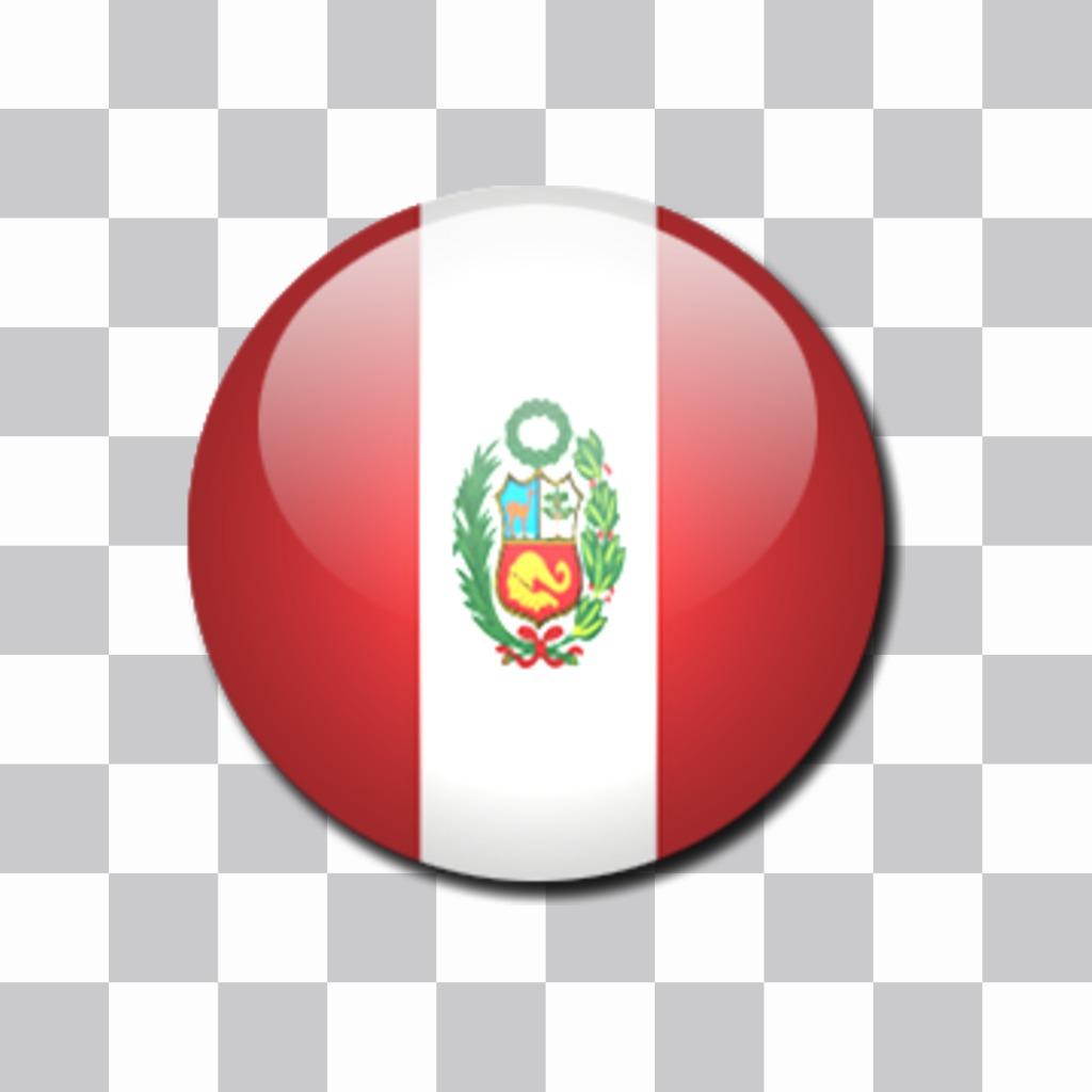 Chapa De La Bandera Del Peru Que Puedes Poner Como Un Sticker En Tus