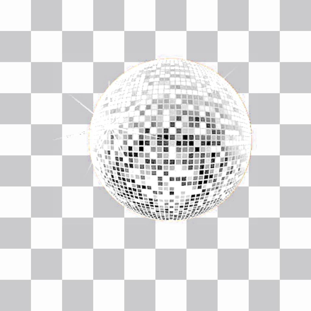 Sticker de una bola de discoteca para decorar tus fotos con una ambiente muy festivo