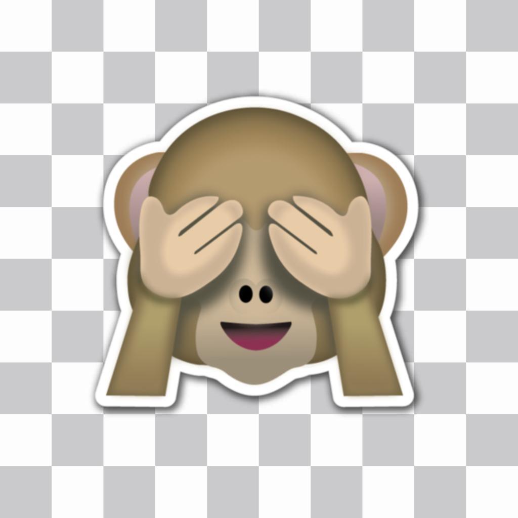 Emoticono del mono que no ve de los 3 monos sabios