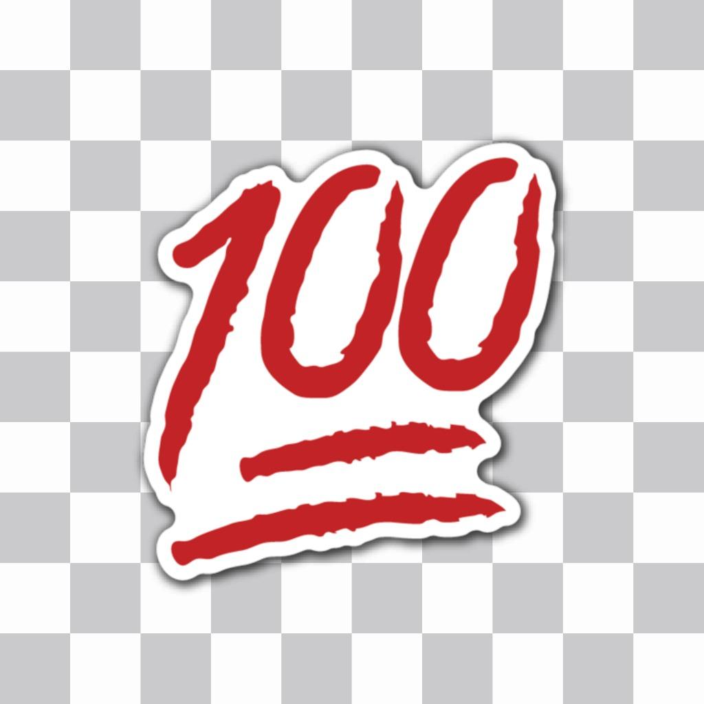 Sticker par aponer 100 puntos en una foto y decir que la mejor o el mejor de todos