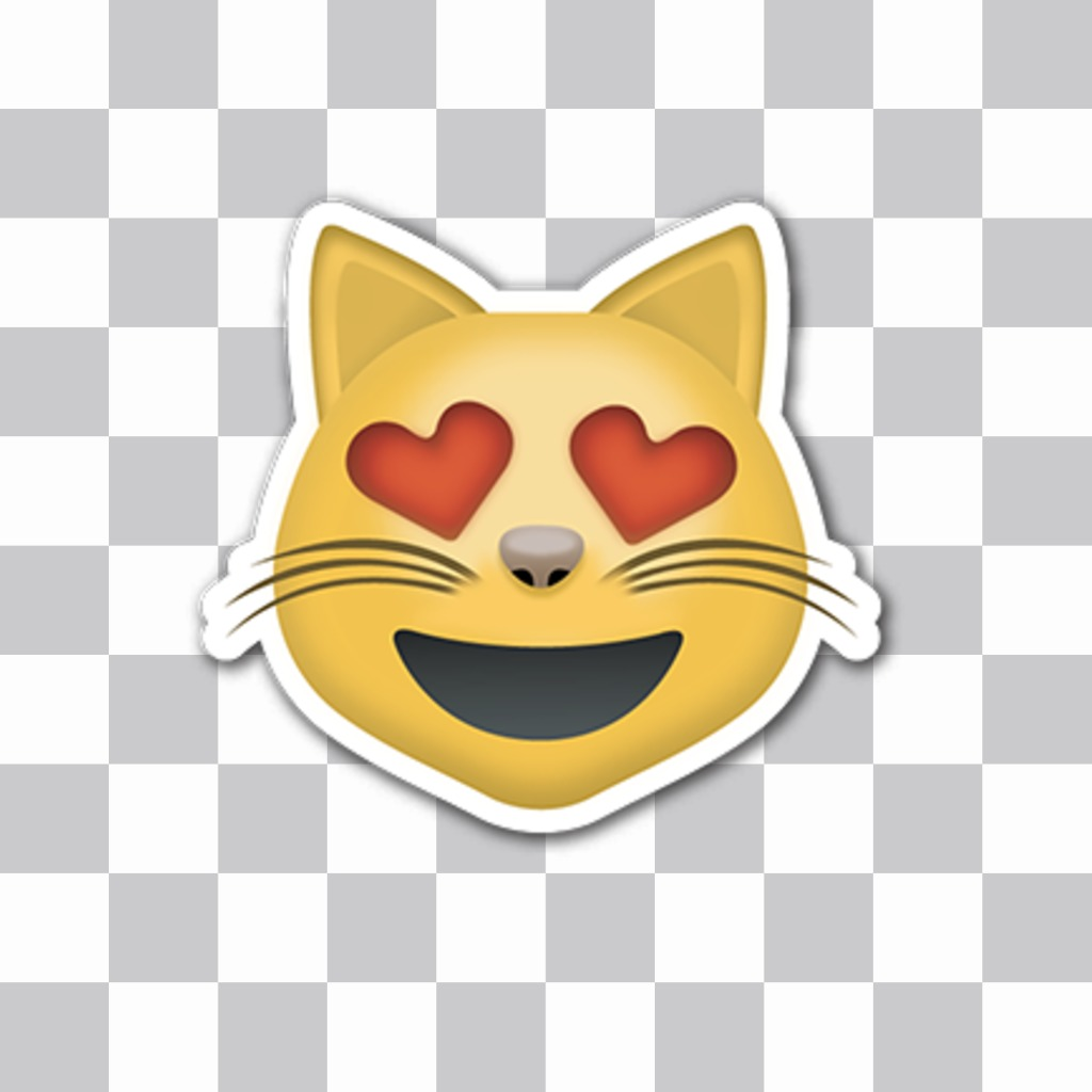 Sticker del emoticono del Gato enamorado