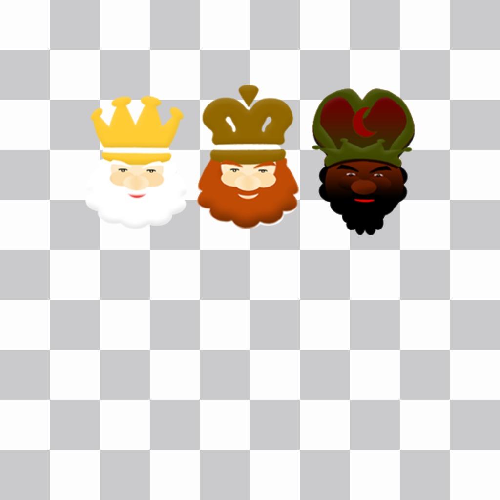 Imagenes Tres Reyes Magos Gratis.Sticker De Los Tres Reyes Magos Para Poner A Tus Fotos