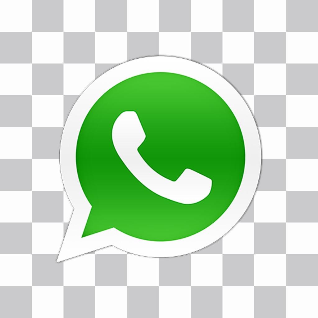 Sticker del logo de WhatsApp para poner en tus fotos