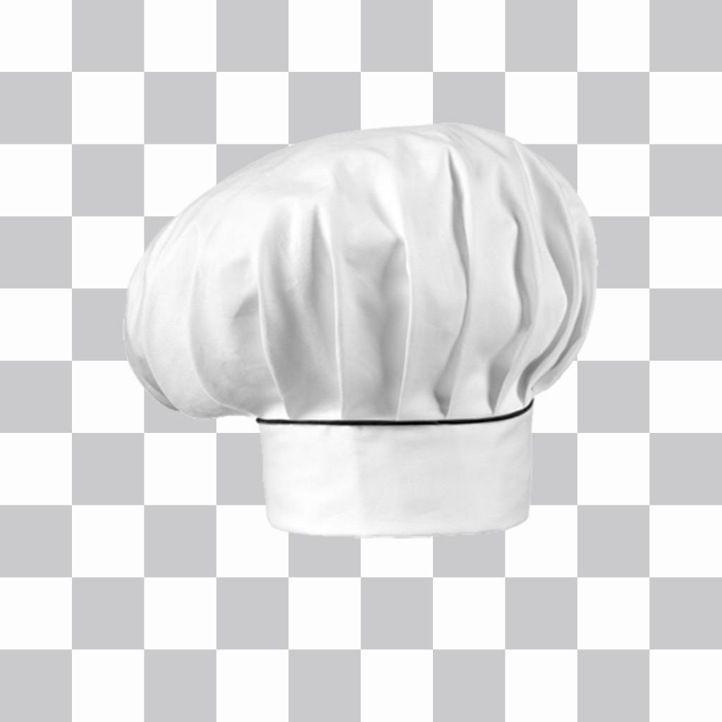 sticker de un gorro de chef para poner en tus fotos