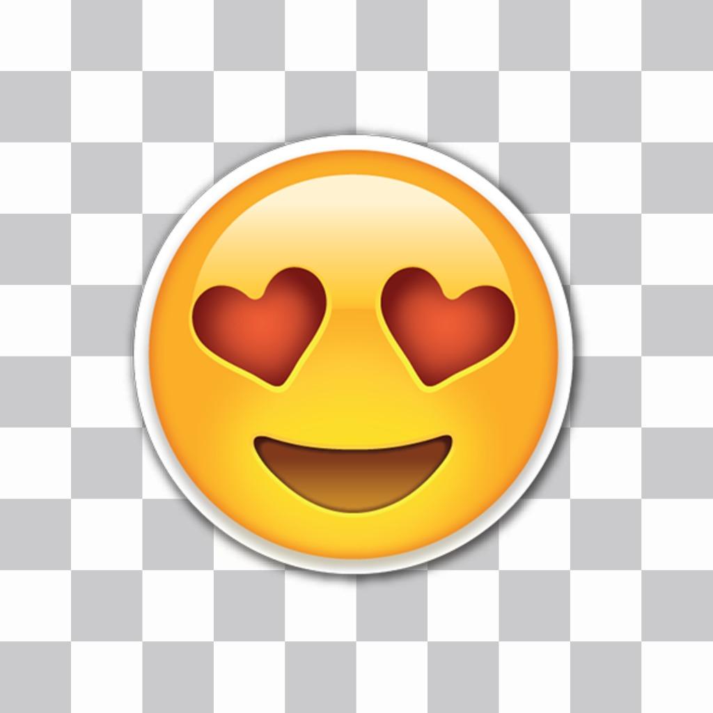 Editor para poner emojis enamorados con ojos de corazón en mis fotos