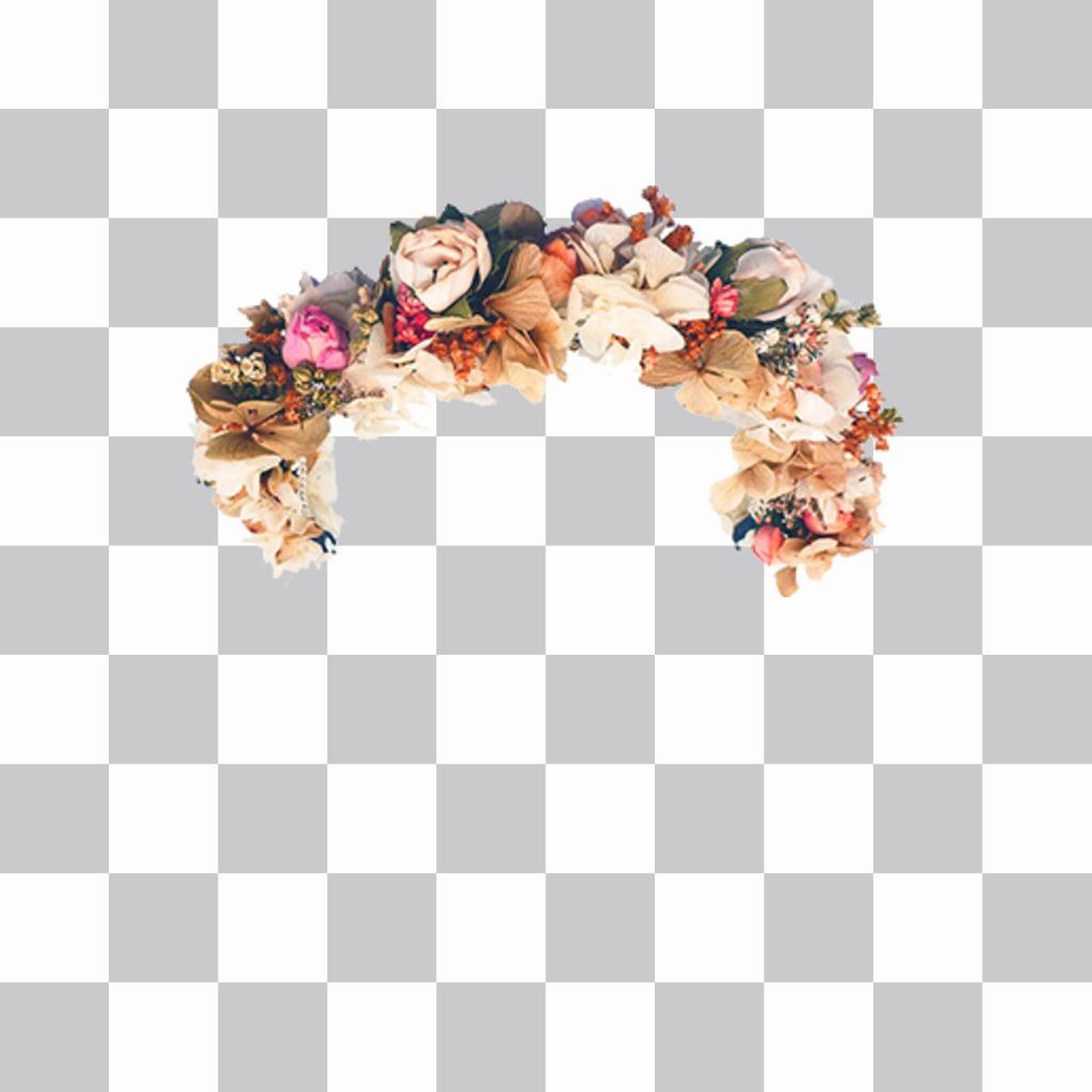 Ponte la famosa diadema de Flores y Rosas en tus fotos para decorar